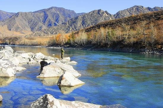pesca in fiume